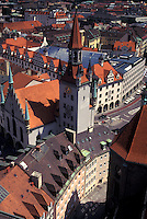 aerial, Munich, Germany, Munchen, Bavaria, Europe, Aerial view of the city of Munich.