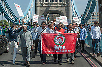 IWGB Taxi drivers protest 24-7-18