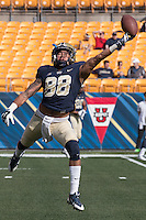 Pitt wide receiver Kevin Weatherspoon.The Georgia Tech Yellow Jackets defeated the Pitt Panthers 56-28 at Heinz Field, Pittsburgh Pennsylvania on October 25, 2014.