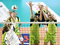Roma, 14/01/2007<br /> PalaTiziano, M. Roma Volley vs Antonveneta Padova  3-0<br /> Nella foto: muro di Paolo Tofoli, Kooistra e Savani.<br /> Andrea Staccioli Insidefoto