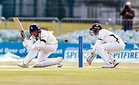 Kent's Matt Milnes bats during Kent CCC vs Yorkshire CCC, LV Insurance County Championship Group 3 Cricket at The Spitfire Ground on 18th April 2021