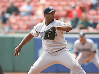 May 11th 2007:  Jerome Williams of the Columbus Clippers delivers a pitch vs the Buffalo Bisons in International League baseball action.  Photo by Mike Janes/Four Seam Images