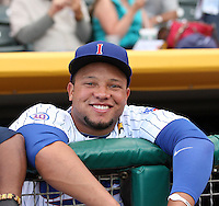 Welington Castillo #32 of the Iowa Cubs plays for the Pacific Coast League All-Stars in the annual Triple-A All-Star Game against the International League All-Stars at Spring Mobile Ballpark on July 13, 2011  in Salt Lake City, Utah. The International League won the game, 3-0. Bill Mitchell/Four Seam Images.