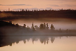 Midnight sun at Devil's Channel on Great Slave Lake