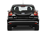 Straight rear view of a 2012 Ford Focus Hatchback Titanium Stock Photo