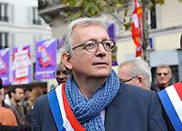 October 10 2017, Paris, France. Demonstration against the Labor Law.<br /> Pierre Laurent general secretary of the Communist Party was present. # MANIFESTATION CONTRE LA LOI TRAVAIL
