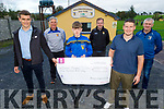 Donal Murphy receives his winning cheque for €500 from the Ballymac GAA club fundraiser  and Maurice O'Connell sold the ticket to his uncle Donal Murphy. Front l to r: Daniel O'Shea, Maurice O'Connell and Donal Murphy.<br /> Back l to r: Mike Sweeney, Fionnan Fitzgerald and Eddie O'Connell.