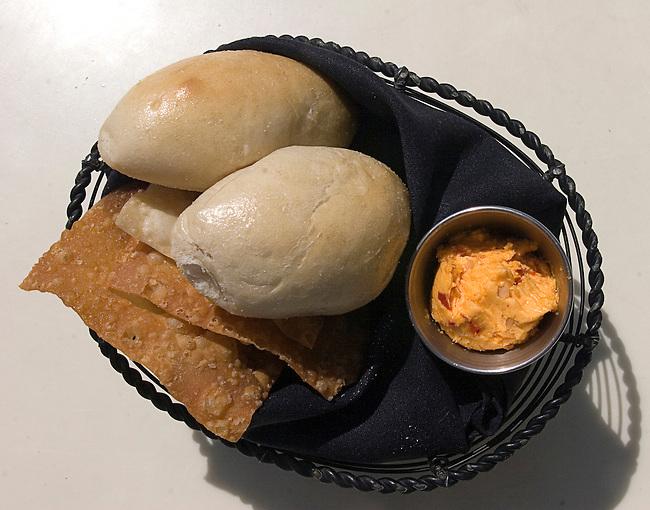 Dinner Rolls, Cheese Spread, Hue Restaurant, Orlando, Florida