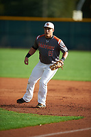 Jose Gutierrez (15) of Lamar High School in Arlington, Texas during the Under Armour All-American Pre-Season Tournament presented by Baseball Factory on January 14, 2017 at Sloan Park in Mesa, Arizona.  (Mike Janes/MJP/Four Seam Images)