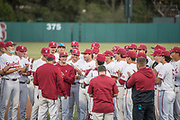 STANFORD, CA - MAY 27: Team after a game between Oregon State University and Stanford Baseball at Sunken Diamond on May 27, 2021 in Stanford, California.