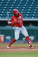 Deivid Alcantara (27) of ACL Reds during a game against the ACL Cubs on September 17, 2021 at Sloan Park in Mesa, Arizona. (Tracy Proffitt/Four Seam Images)