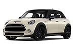 Stock pictures of low aggressive front three quarter view of 2019 MINI Hardtop-4-Door Cooper-S 5 Door Hatchback Low Aggressive
