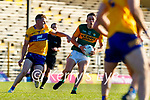 David Clifford, Kerry, in action against Daniel Walsh, Clare, during the Munster Football Championship game between Kerry and Clare at Fitzgerald Stadium, Killarney on Saturday.