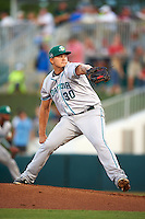 Daytona Tortugas pitcher Sal Romano (30) delivers a pitch during a game against the Fort Myers Miracle on June 17, 2015 at Hammond Stadium in Fort Myers, Florida.  Fort Myers defeated Daytona 9-5.  (Mike Janes/Four Seam Images)
