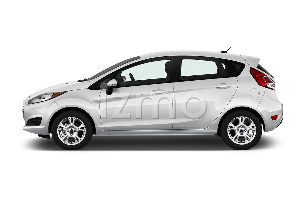 Car Driver side profile view of a 2017 Ford Fiesta SE 5 Door Hatchback Side View