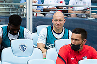 KANSAS CITY, KS - JULY 18: Brad Guzan of the United States during a game between Canada and USMNT at Children's Mercy Park on July 18, 2021 in Kansas City, Kansas.