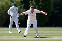 R Rayner of Billericay claims the wicket of A Freed during Billericay CC vs Hornchurch CC (batting), Hamro Foundation Essex League Cricket at the Toby Howe Cricket Ground on 12th June 2021