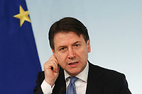 Giuseppe Conte <br /> Rome March 5th 2020. Press conference at the end of the Italian Council of Ministers about the economic impact of Coronavirus (Covid-19) outbreak and about the measures the Government will take to face up the crisis.<br /> Photo Samantha Zucchi Insidefoto