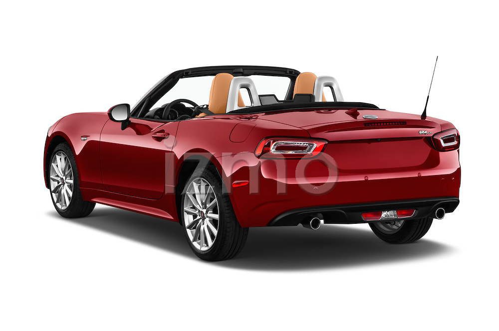 Car pictures of rear three quarter view of 2018 Fiat 124-Spider 1.4-Lusso 2 Door Convertible Angular Rear