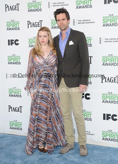 Majandra Delfino AND David Walton<br />  attends The 2014 Film Independent Spirit Awards held at Santa Monica Beach in Santa Monica, California on March 01,2014                                                                               © 2014 Hollywood Press Agency