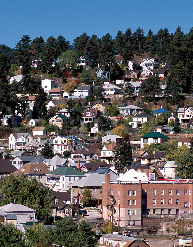 View of Lead South Dakota founded in gold rush of 1876 home of the Homestake Mine.