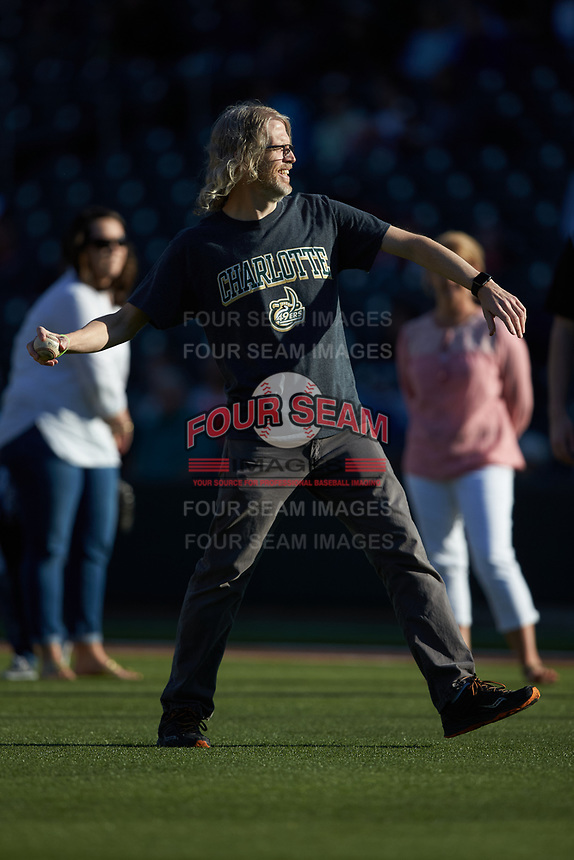 at BB&T Ballpark on March 29, 2016 in Charlotte, North Carolina. The Wolfpack defeated the 49ers 7-1.  (Brian Westerholt/Four Seam Images)