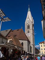 Pfarrkirche St. Michael in Brixen, Region Südtirol-Bozen, Italien, Europa<br /> parish church St. Michael in Brixen, Region South Tyrol-Bolzano, Italy, Europe