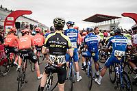 at the race start at the Navarra moto race circuit<br /> <br /> Stage 12: Circuito de Navarra to Bilbao (171km)<br /> La Vuelta 2019<br /> <br /> ©kramon