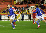 Aberdeen v St Johnstone…26.12.20   Pittodrie      SPFL<br />Liam Gordon celebrates his goal<br />Picture by Graeme Hart.<br />Copyright Perthshire Picture Agency<br />Tel: 01738 623350  Mobile: 07990 594431