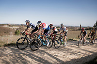Mathieu Van der Poel (NED/Alpecin-Fenix) at the front of the race<br /> <br /> 15th Strade Bianche 2021<br /> ME (1.UWT)<br /> 1 day race from Siena to Siena (ITA/184km)<br /> <br /> ©kramon