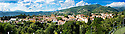 """SAGRA DEL """"PESCE E PATATE"""" 2011, BARGA, ITALY<br /> <br /> PANORAMIC VIEW OF THE TOWN OF BARGA."""