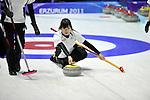 Risa Ujihara (JPN), ..JANUARY 28, 2011 - Curling : ..The 25th Winter Universiade Erzurym 2011 between Japan Women's and Germany Women's at Curling Hall, Erzurum, Turkey. (Photo by AFLO)