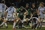 Connacht flanker John Muldoon gets bogged down in the Blues defence..Celtic League.Cardiff Blues v Connacht.22.02.13.©Steve Pope-SPORTINGWALES