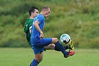 Niklas Strohauer (Erfelden) gegen Sjalmach Simbargov (Rüsselsheim) - Erfelden 29.08.2021: SKG Erfelden gegen DJK SG Eintracht Rüsselsheim, Sportplatz Erfelden
