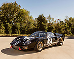 October 18, 2019. Charlotte, North Carolina.<br /> <br /> Side view of the Ford GT mark II.<br /> <br /> Rob Kauffman is owner of Charlotte, NC-based RK Motors, a classic car restoration and sales shop. In 1966 a Ford racing team beat Ferrari at Le Mans. Kauffman has the Ford GT Mk II that won the race. He also owns a new Ford GT painted in the same paint scheme as the 1966 car.<br /> <br /> Jeremy M. Lange for The Wall Street Journal