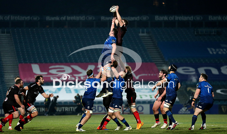 8th January 2021 | Leinster vs Ulster <br /> <br /> Sam Carter during the PRO14 Round 11 clash between Leinster Rugby and Ulster Rugby at the RDS Arena, Ballsbridge, Dublin, Ireland. Photo by John Dickson/Dicksondigital