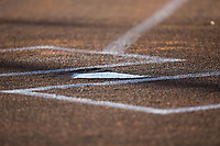 The field is ready for the South Atlantic League game between the Lakewood BlueClaws and the Kannapolis Intimidators at Kannapolis Intimidators Stadium on April 7, 2017 in Kannapolis, North Carolina.  The BlueClaws defeated the Intimidators 6-4.  (Brian Westerholt/Four Seam Images)