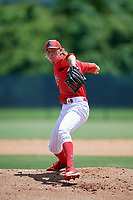 GCL Phillies West pitcher Brandon Ramey (31) during a Gulf Coast League game against the GCL Yankees East on August 3, 2019 at the Carpenter Complex in Clearwater, Florida.  The GCL Yankees East defeated the GCL Phillies West 4-0, the second game of a doubleheader.  (Mike Janes/Four Seam Images)