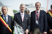 ASO boss Christian Prudhomme (FRA) next to King Filip of Belgium who will give the start to the 100th edition of 'La Doyenne'<br /> <br /> Liège-Bastogne-Liège 2014