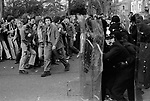 Racism 1970s UK.  Anti Nazi League demonstration against a march by the National Front through the centre of Leicester 1978.