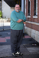 Pictured: Andrew Keitley in Cardiff, Wales, UK. Friday 26 August 2016<br />Re: Andrew Keitley was refused dental treatment by staff at St David's Hospital in Cardiff south Wales where he lives because he is overweight.