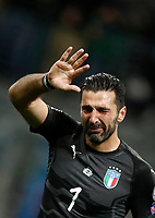 Soccer Football - 2018 World Cup Qualifications - Europe - Italy vs Sweden - San Siro, Milan, Italy - November 13, 2017 <br /> Italy's Captain Gianluigi Buffon looks dejected at the end of the FIFA World Cup 2018 qualification football match between Italy and Sweden at the San Siro stadium in Milan, on November 13, 2017. <br /> Italy failed to reach the World Cup for the first time since 1958.<br /> UPDATE IMAGES PRESS/Isabella Bonotto