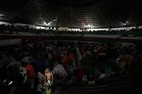 """LA LINEA - COLOMBIA, 16-10-2020: Indígenas colombianos participando en una """"Minga"""" (encuentro indígena) durante su travesía por el alto de La Línea su viaje a Bogotá para exigir una reunión con el presidente Iván Duque el 13 de octubre de 2020 en Cali, Colombia. Miles exigen un encuentro cara a cara para discutir el aumento de la violencia por la presencia de grupos armados en sus territorios, la sustitución de cultivos y las recientes masacres y asesinatos de líderes indígenas y sociales. / Colombian indigenous taking part in a """"Minga"""" (indigenous meeting) during his journey through the top of La Línea to travel to Bogotá as they demand a meeting with President Iván Duque October 13, 2020 in Cali, Colombia. Thousands demand a face to face meeting to discuss the increase of violence due to the presence of armed groups in their territories, crops substitutions and the recent massacres and the killings of indigenous and social leaders. Photo: VizzorImage/ Diego Cuevas / Staff"""