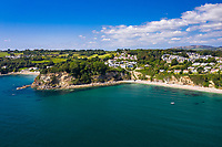 BNPS.co.uk (01202 558833)<br /> Pic: Rohrs&Rowe/BNPS<br /> <br /> Pictured: Seascape overlooks Porthpean Beach and Duporth Beach. <br /> <br /> An exceptional contemporary clifftop home with panoramic views of not one, but two beaches is on the market for offers over £2m.<br /> <br /> Seascape is a brand new home, completed earlier this year and never lived in, that has a frontline spot next to Porthpean Beach and Duporth Beach.<br /> <br /> The sleek four-bedroom home in the village of Porthpean, Cornwall, has incredible sea views from almost every room, a full width balcony and a gate in the garden straight onto the South West Coast Path.