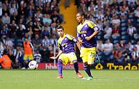 Sunday 01 September 2013<br /> Pictured: (L-R) Pablo Hernandez, Jonathan de Guzman.<br /> Re: Barclay's Premier League, West Bromwich Albion v Swansea City FC at The Hawthorns, Birmingham, UK.