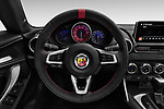 Car pictures of steering wheel view of a 2017 Abarth 124 Spider Base 2 Door Convertible