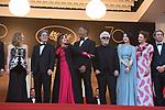 Montee des marches 17 mai 2017 ceremonie d ouverture<br /> <br /> Jessica Chastain, Will Smith, Pedro Almodovar, Agnes Jaoui