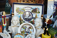 United Kingdom, UK, England, West Midlands, Warwickshire, Stratford-Upon-Avon, Great Britain, British Isles, Shakespeare memorabilia in shop window