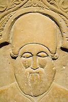 Zypern (Süd), Burg-Museum in Limassol (Lemesos), Grabstein Joannis Petaloudis aus Nicosia 6. Jh. n.Chr.