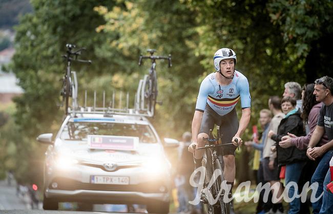 Yves Lampaert (BEL/Deceuninck-Quick Step)<br /> Elite Men Individual Time Trial<br /> from Northhallerton to Harrogate (54km)<br /> <br /> 2019 Road World Championships Yorkshire (GBR)<br /> <br /> ©kramon